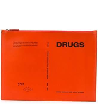 Raf Simons Drugs clatch bag