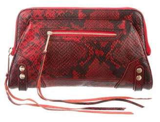 Rebecca Minkoff Embossed Leather Clutch