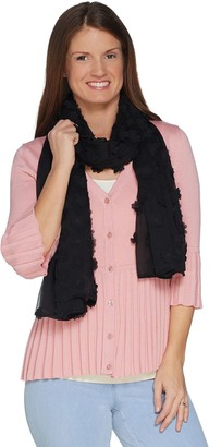 Isaac Mizrahi Live! Special Edition Sheer Shawl w/ Floral Appliques