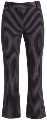 Derek Lam 10 Crosby Striped Crop Flare Pants