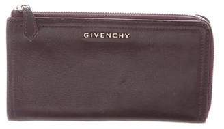 Givenchy Leather Zip-Around Wallet