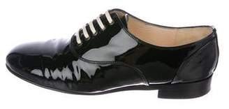 Christian Louboutin Patent Leather Round-Toe Oxfords