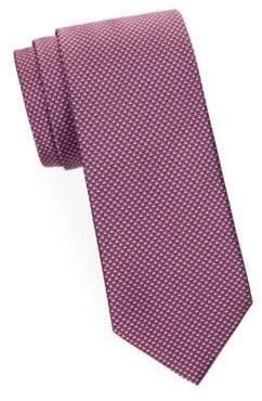 Brioni Mini Check Silk Tie