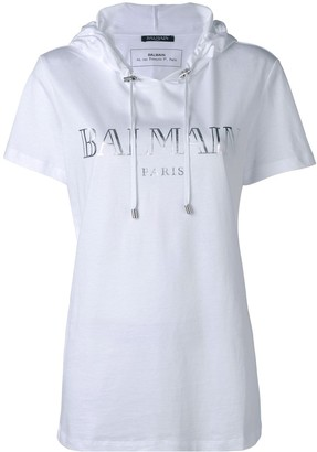 Balmain hooded T-shirt