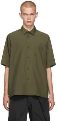 Issey Miyake 132 5. 132 5. Khaki Integrated Pocket Three-Quarter Shirt