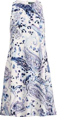 Ralph Lauren Paisley Crepe A-Line Dress