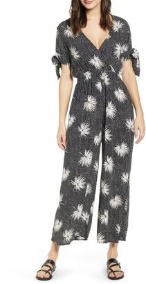 Billabong Night Conjurer Floral Print Jumpsuit