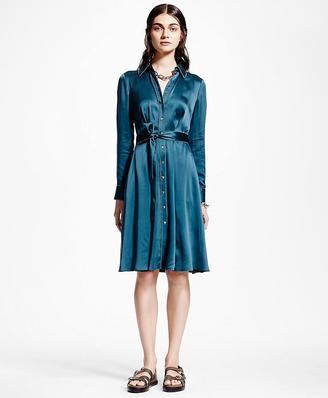 Silk Charmeuse Shirt Dress $598 thestylecure.com