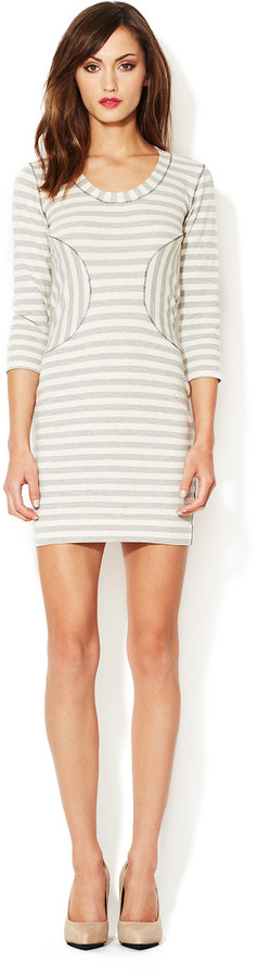 Corey Lynn Calter Sara Striped Jersey Dress