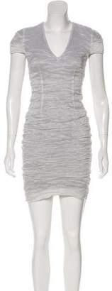 Yigal Azrouel Short Sleeve Mini Dress