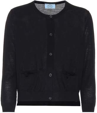 Prada Cropped wool cardigan
