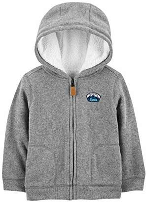 Carter's Simple Joys by Boys' Toddler Hooded Fleece Jacket with Sherpa Lining