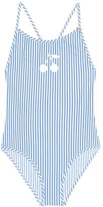 Bonpoint Striped swimsuit
