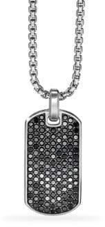 David Yurman Pave Streamline Black Diamond Dog Tag