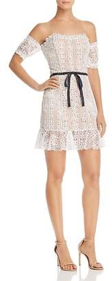 For Love & Lemons Dakota Off-the-Shoulder Lace Dress