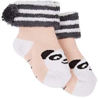 The Bonnie Mob Panda Knit Cotton-Blend Socks