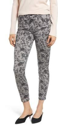 Jen7 Lace Pattern Skinny Ankle Jeans