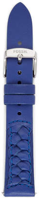 Fossil 18mm Sapphire Leather Watch Strap