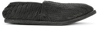 Guidi weaved loafers