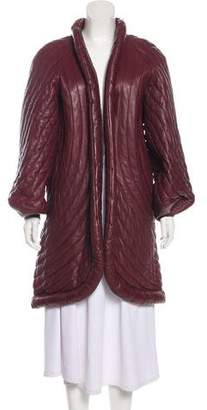 Fendi Quilted Knee-Length Coat