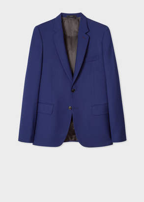 Paul Smith Men's Tailored-Fit Cobalt Blue Wool 'A Suit To Travel In' Blazer