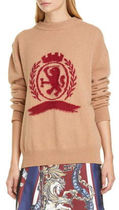 Tommy Hilfiger Needle Punch Crest Wool & Cashmere Sweater