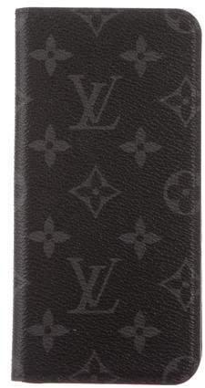 Louis Vuitton 2016 Monogram Eclipse iPhone 7 Plus Folio