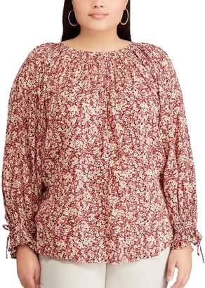 Chaps Plus Size Floral Top