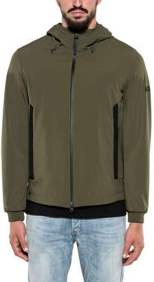 Woolrich Army Green Soft Shell Hooded Jacket