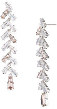 Carolee Blushing Bride Crystal Linear Earrings
