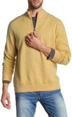 Tommy Bahama Flip Side Twill Half Zip Reversible Pullover $98 thestylecure.com