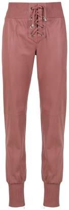 Clé lace-up leather pants