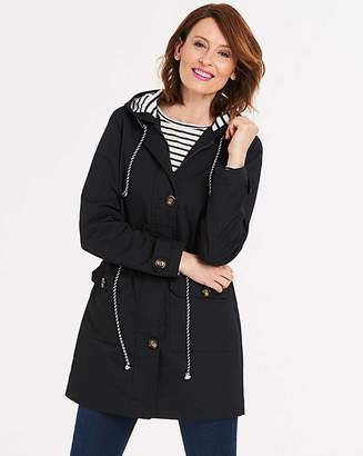 Fashion World Hooded Contrast Casual Jacket