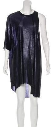 Golden Goose Metallic Asymmetrical Dress