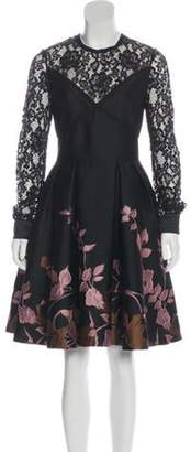Elie Saab Embroidered Lace Dress Black Embroidered Lace Dress