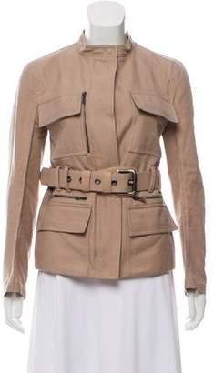 Saint Laurent Denim Belted Jacket