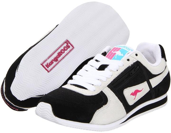 KangaROOS Kids - Magnolia (Youth) (Black/White) - Footwear