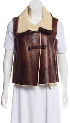 Prada Mink-Trimmed Shearling Vest