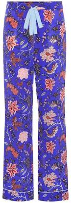 Diane von Furstenberg Printed silk trousers