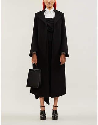aganovich Flared-cuffs slim-fit wool coat
