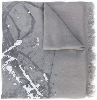 Yohji Yamamoto frayed edge scarf