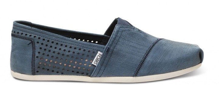 Toms Toms+ navy perforated men's classics
