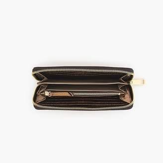 J.Crew Harper continental wallet in metallic Italian leather