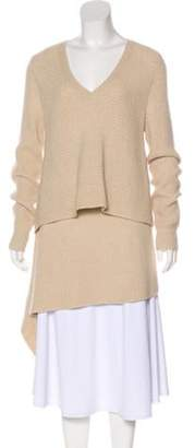 Derek Lam Cashmere Asymmetrical Sweater Tan Cashmere Asymmetrical Sweater