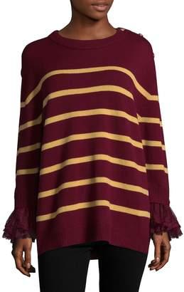Manoush Women's Striped Merino Wool Blouse