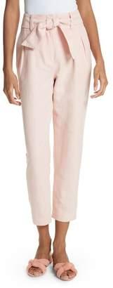 Joie Jun Cotton & Linen Ankle Pants