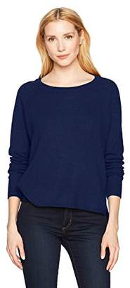 Minnie Rose Women's 100% Cashmere Raglan Hi Lo Sweater