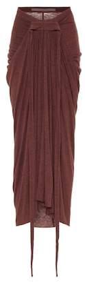 Rick Owens Lilies draped knit skirt