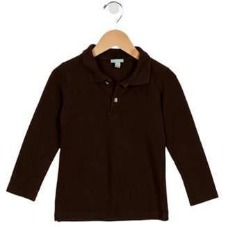 Papo d'Anjo Boys' Long Sleeve Polo Shirt brown Boys' Long Sleeve Polo Shirt