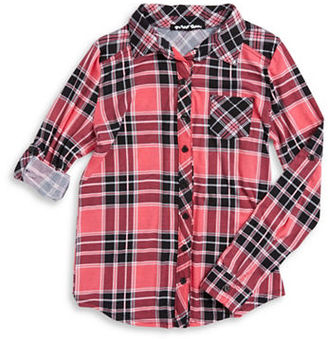 Planet Gold Girls 7-16 Plaid Button-Down Blouse $38 thestylecure.com